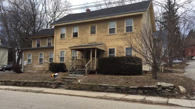 Police were investigating a death at a Willimantic home on Friday (WFSB)