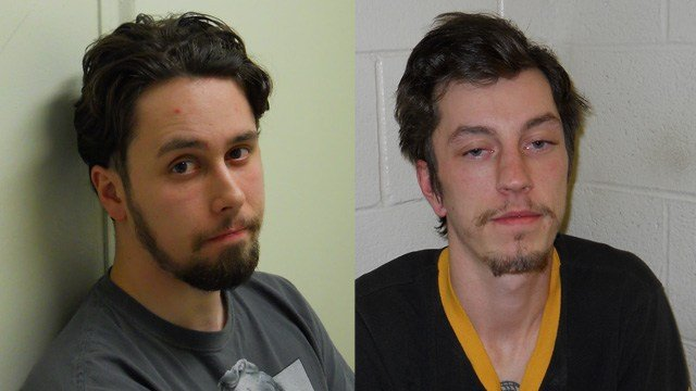 Wesley Hine and Joshua Richardson. (State police photos)