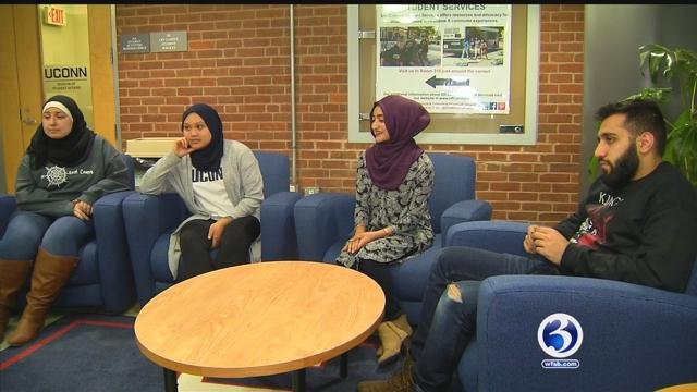 UConn students are speaking out on President Trump's executive orders. (WFSB)
