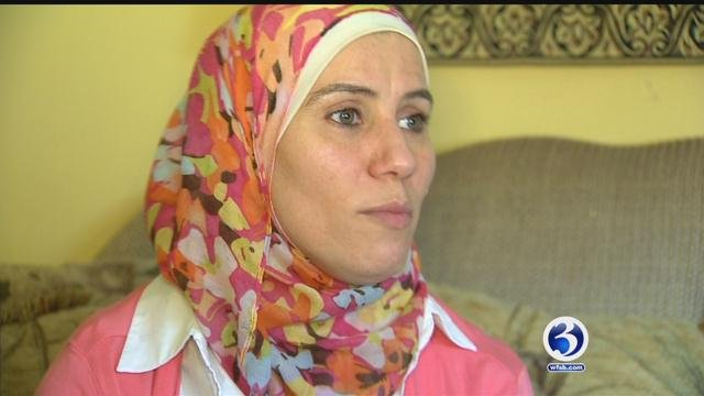 Ghoufran Allababidi reacts to the temporary travel ban (WFSB)