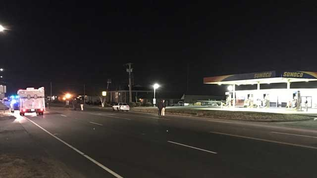 A man was hit by a car in North Haven on Monday evening (WFSB)