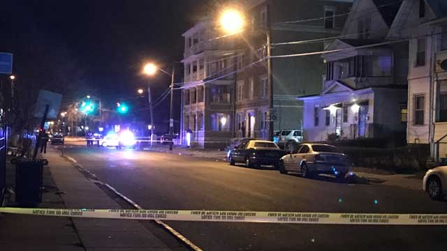 A man in his 30s was shot and killed on Ashley Street in Hartford Monday night (WFSB)