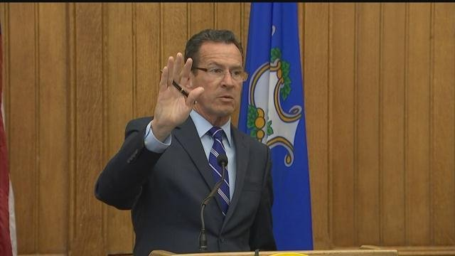 Gov. Dannel Malloy unveiled part of his budget plan on Tuesday. (WFSB photo)