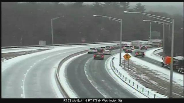 Route 72 in Plainville was closed between exits 1 and 2 after a multi-vehicle crash around 12:15 p.m. (CT DOT)