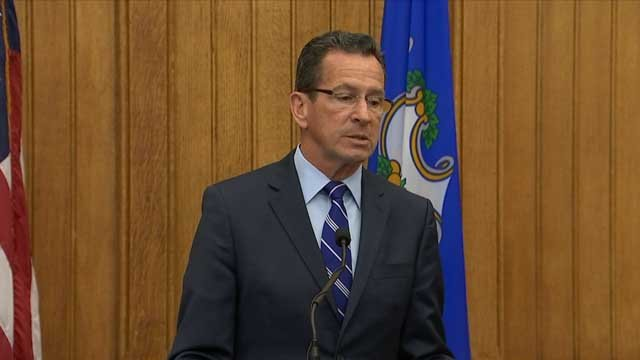 Gov. Malloy held a budget press conference on Tuesday (WFSB)