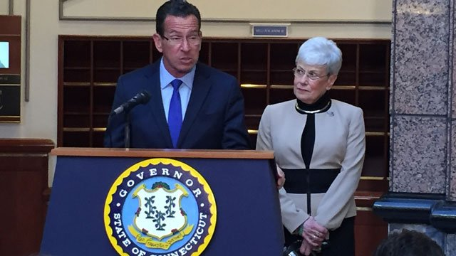 Gov. Dannel P. Malloy and other state leaders set aside money for crumbling foundation funding. (WFSB)