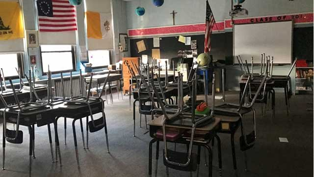 St. Joseph School in Meriden will be closed for the rest of the week (WFSB)