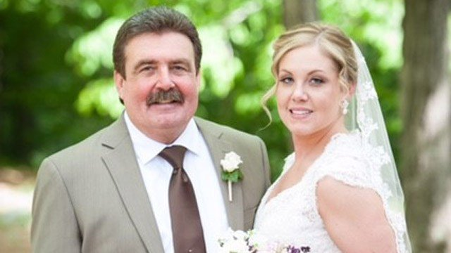 Ashley George and her father. (Contributed photo)
