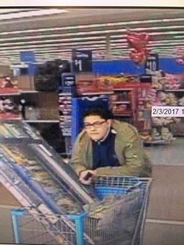 Police need to identify this man who stole a TV from the Wal-Mart in Waterford.  (Waterford Police Dept. Facebook page)