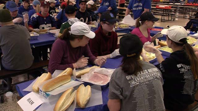 Students made thousands of subs to raise funds for marching band (WFSB)
