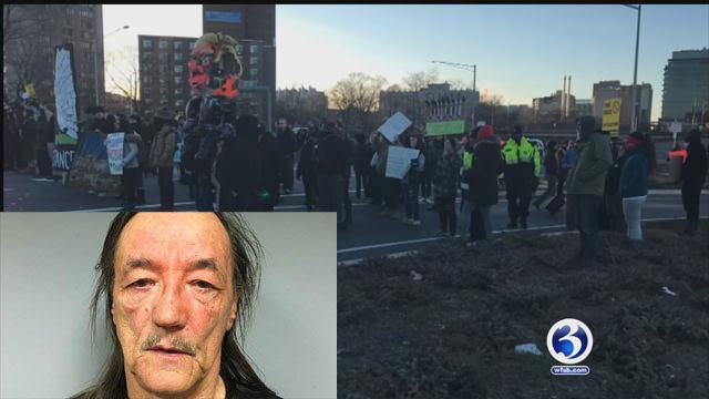 An attorney representing protesters who blocked a Connecticut highway on Saturday says police are responsible for problems at the demonstration.(Connecticut State Police/WFSB)