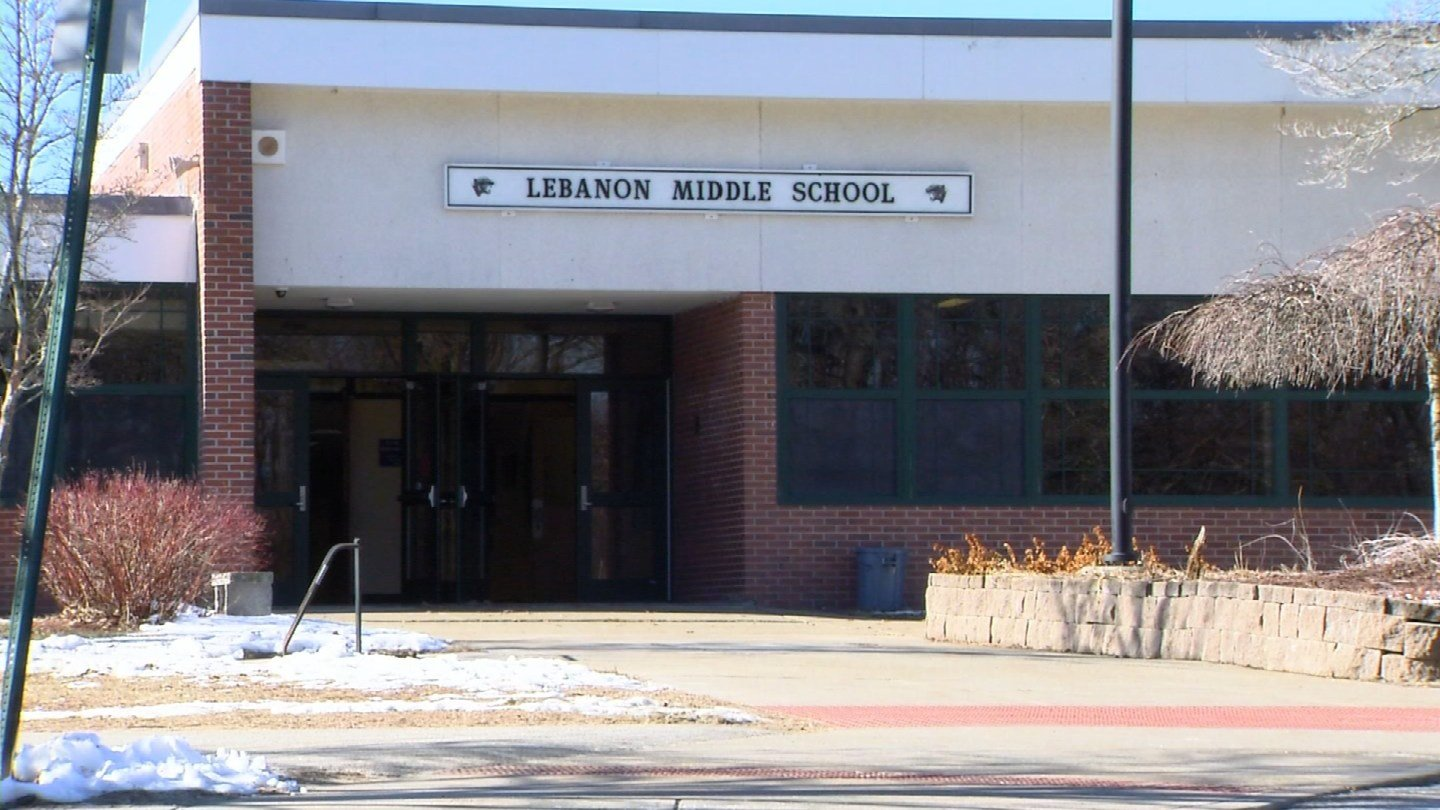 The Lebanon Middle School dismissed for the day on Monday because of a cleaning chemical spill. (WFSB photo)