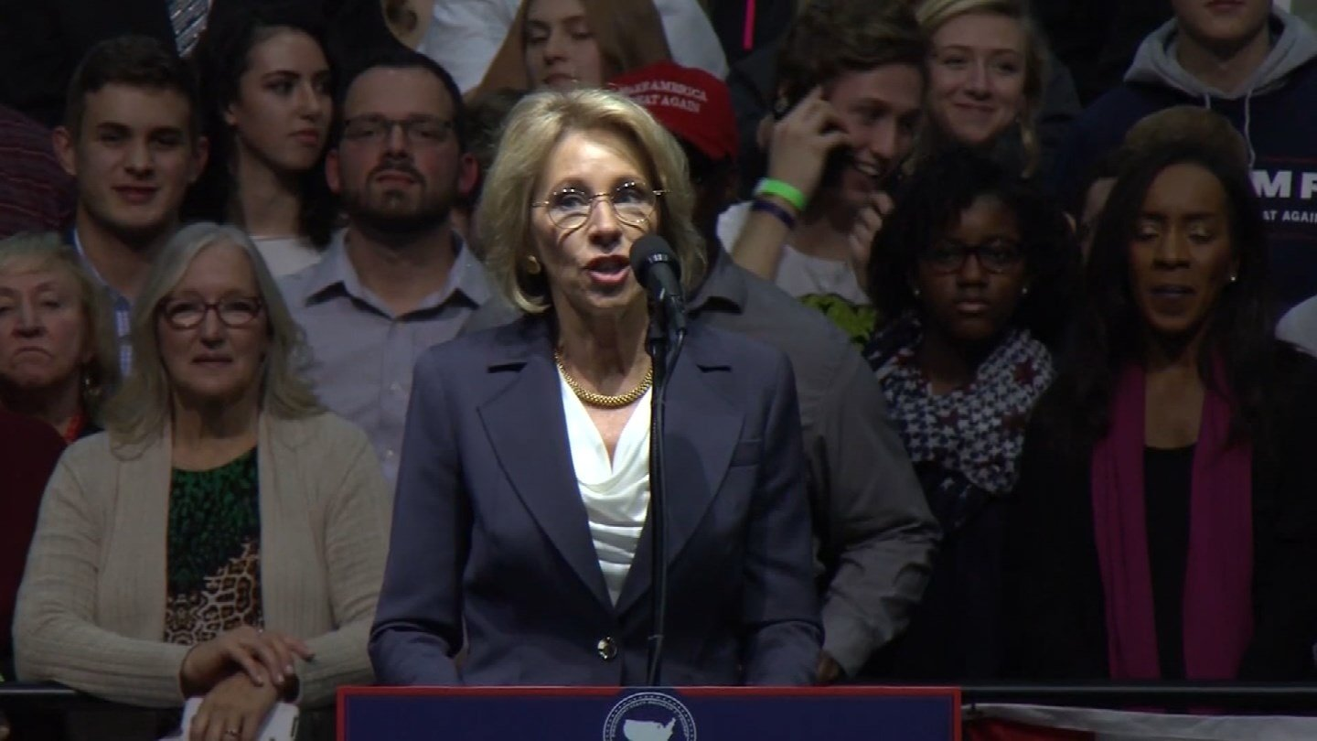 Betsy DeVos, President Donald Trump's nomination for education secretary. (CBS photo)