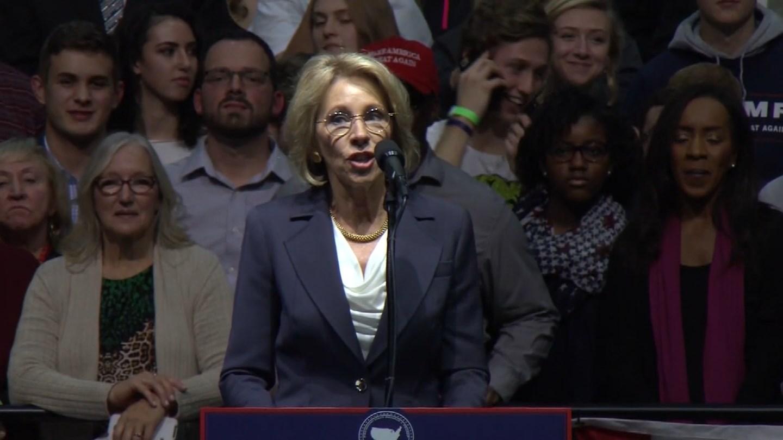 Betsy DeVos, President Donald Trump's nomination for education secretary. (CBS photo)