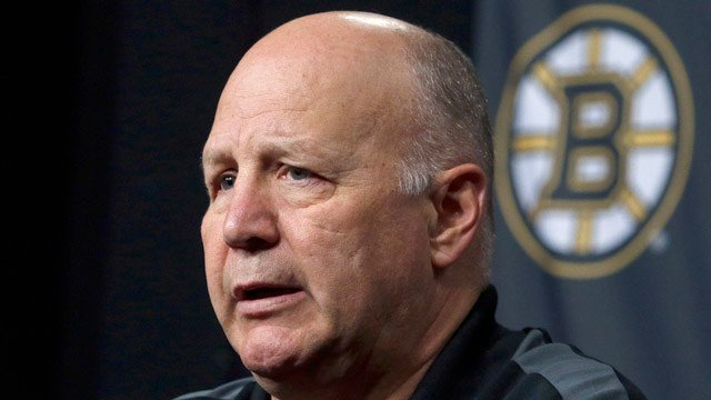 In this April 14, 2016 file photo, Boston Bruins head coach Claude Julien speaks at a news conference at TD Garden after the Bruins failed to reach the playoffs for the second straight year. (AP photo)