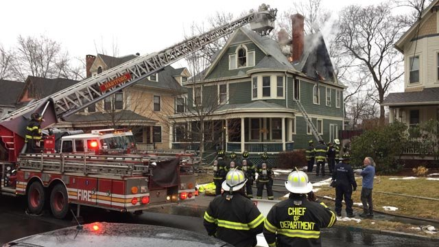 Firefighters knocked down a house fire on Oxford Street in Hartford Tuesday morning. (WFSB photo)