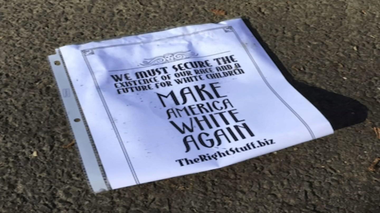Racist fliers were found in Norwalk (WFSB)