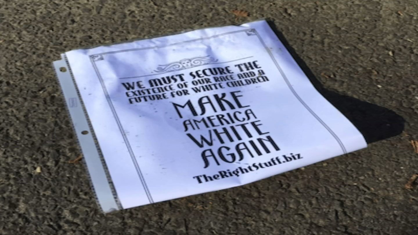 Racist fliers were found in Norwalk (WFSB)