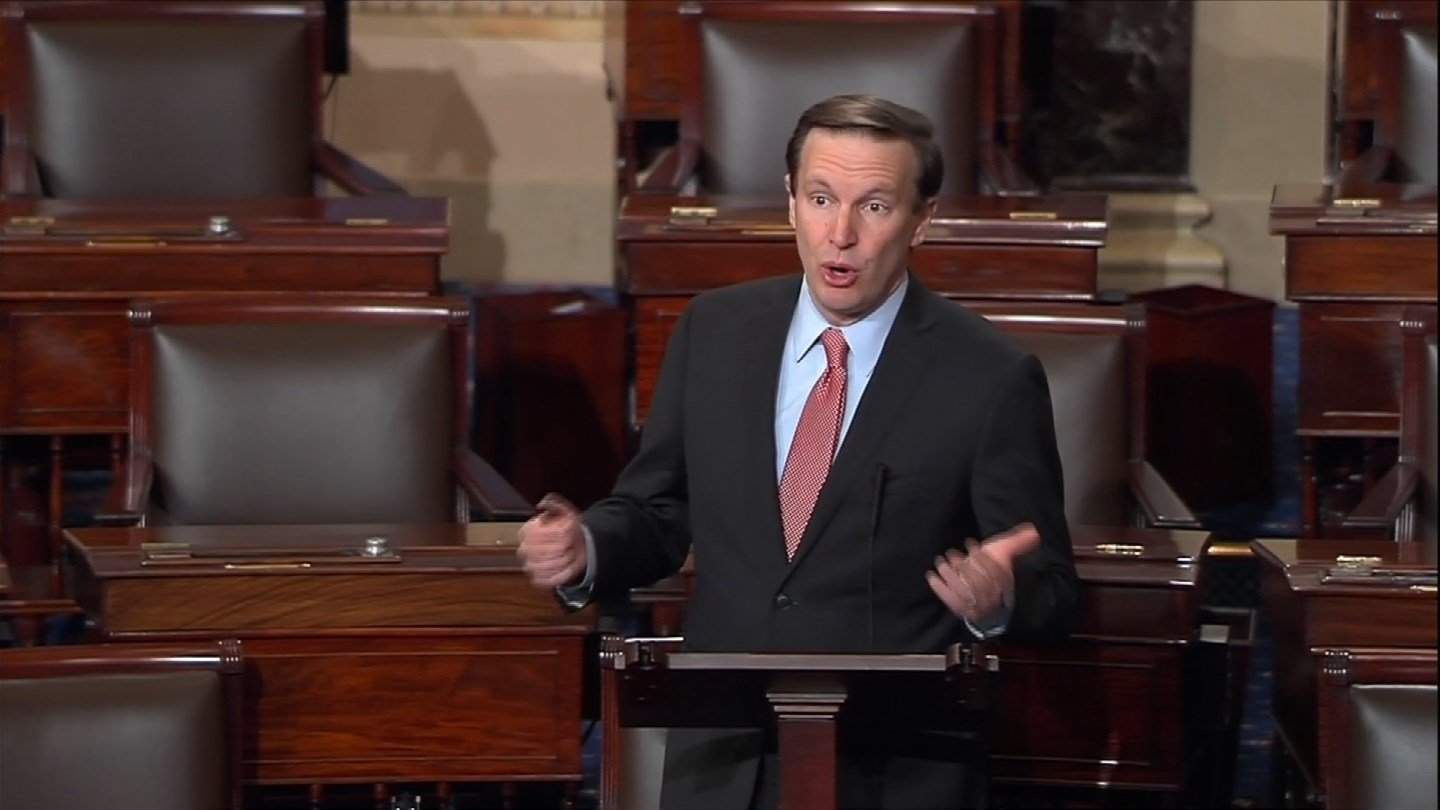 Sen. Chris Murphy was one lawmaker who reacted to the president's revised travel ban. (CBS photo)