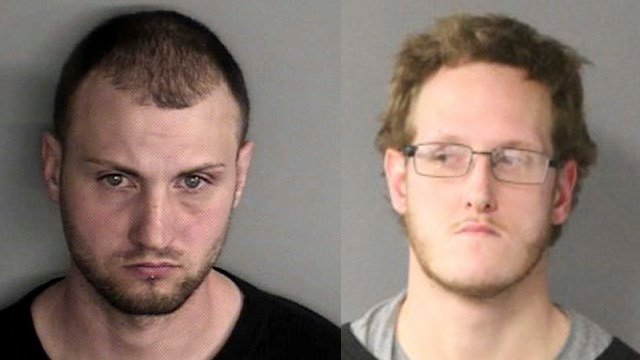 Justin Lamontagne and Eric Plevka. (State police photos)