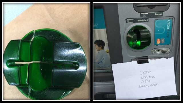 ATM skimmer device found at Manchester bank (Manchester police)