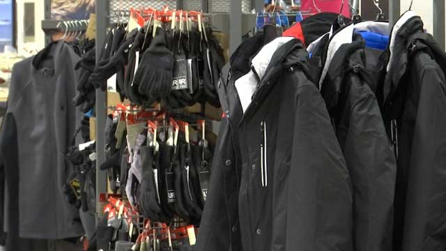 Customers were flocking to the stores for new gear on Wednesday (WFSB)