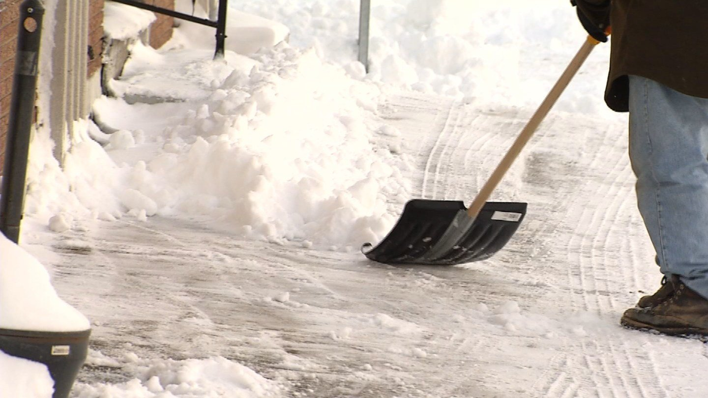 Blizzard Chris cleanup continued in East Hartford on Friday. (WFSB photo)