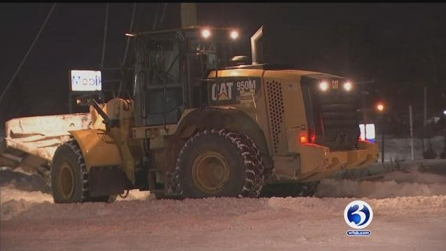 Connecticut crews were preparing on Friday for more snow this weekend. (WFSB)