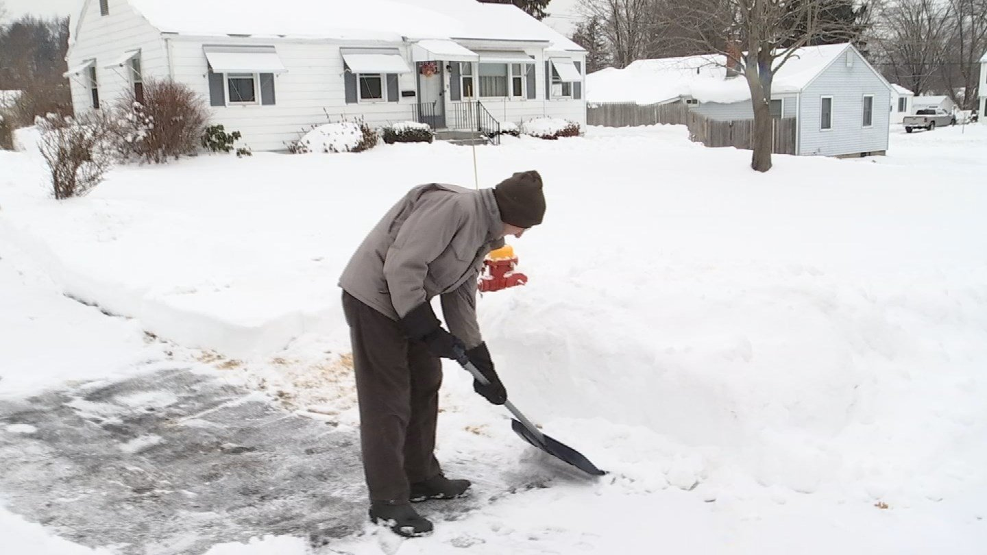 Rocky Hill residents were shoveling out on Saturday morning. (WFSB)