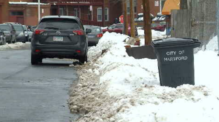 The City of Hartford established a parking ban for 11 a.m. (WFSB)