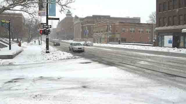 Winter Storm Diana created difficult driving conditions on Sunday (WFSB)