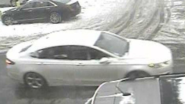 This Ford Fusion is believed to be the suspects' vehicle. (Meriden police photo)