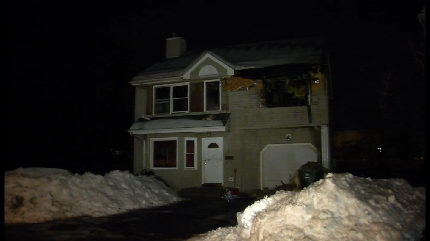 Firefighters battled a fire on Rosemary Court in West Hartford early Tuesday morning. (WFSB photo)