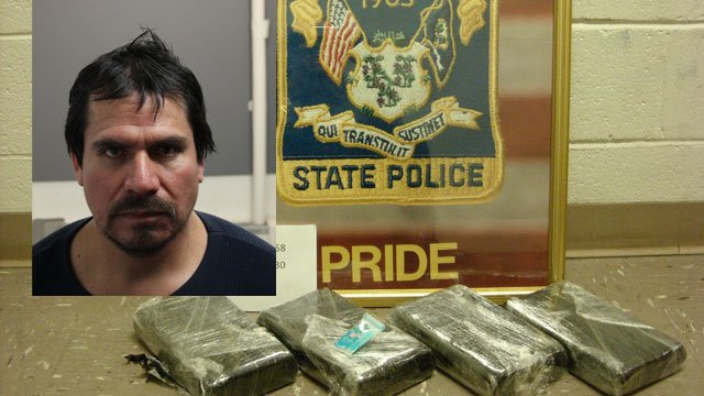 Luis Palacios, of Waterbury, was arrested after four kilos of cocaine during a motor stop in Waterbury. (CT State Police)