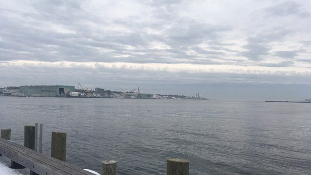 A Russian spy ship was detected about 30 miles away from New London Harbor and Electric Boat. (WFSB photo)
