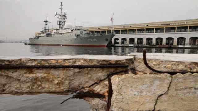 The Viktor Leonov was in Havana, Cuba earlier this week. (Chip Somodevilla/Getty Images)