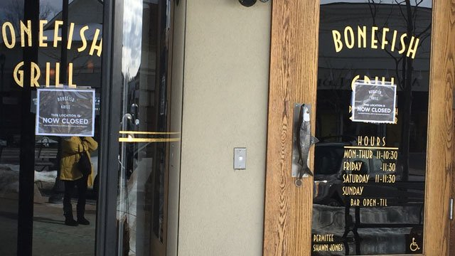 Bonefish grill in South Windsor to close. (WFSB)