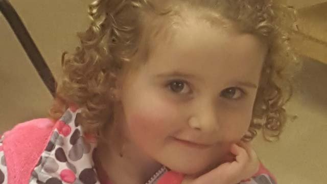 Three-year-old Aubrey's mother says her child was left along in the bathroom of a daycare in Wallingford (Submitted)
