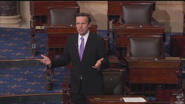 Sen. Chris Murphy argued against the nomination of Scott Pruitt as the head of the EPA. (CBS photo)