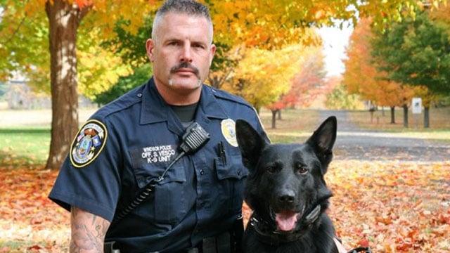 Officer Steve Vesco and Iko. (GoFundme photo)