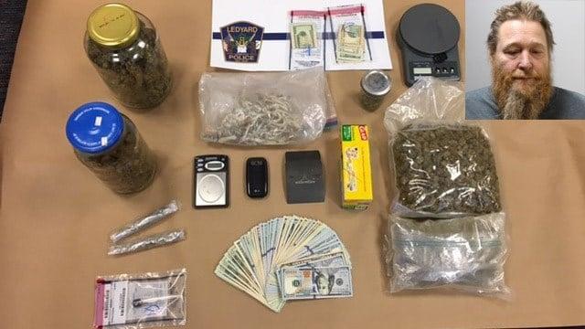 James Bredeweg, 53, of Ledyard was arrested for selling marijuana hallucinogenic mushrooms. (Ledyard Police Department)