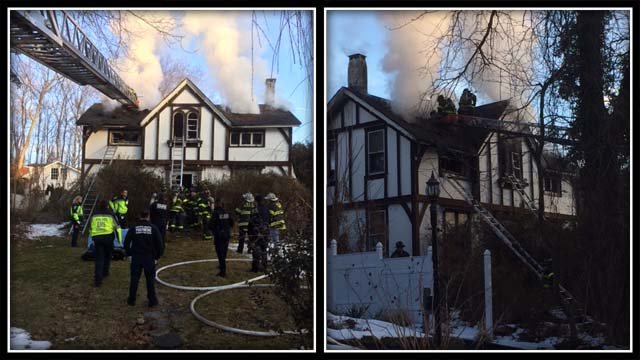 A woman was killed in a house fire in Norwalk Sunday morning (Norwalk Fire Dept.)