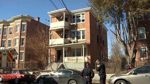 It is unclear what caused a fire at a three-story home in Hartford (WFSB)