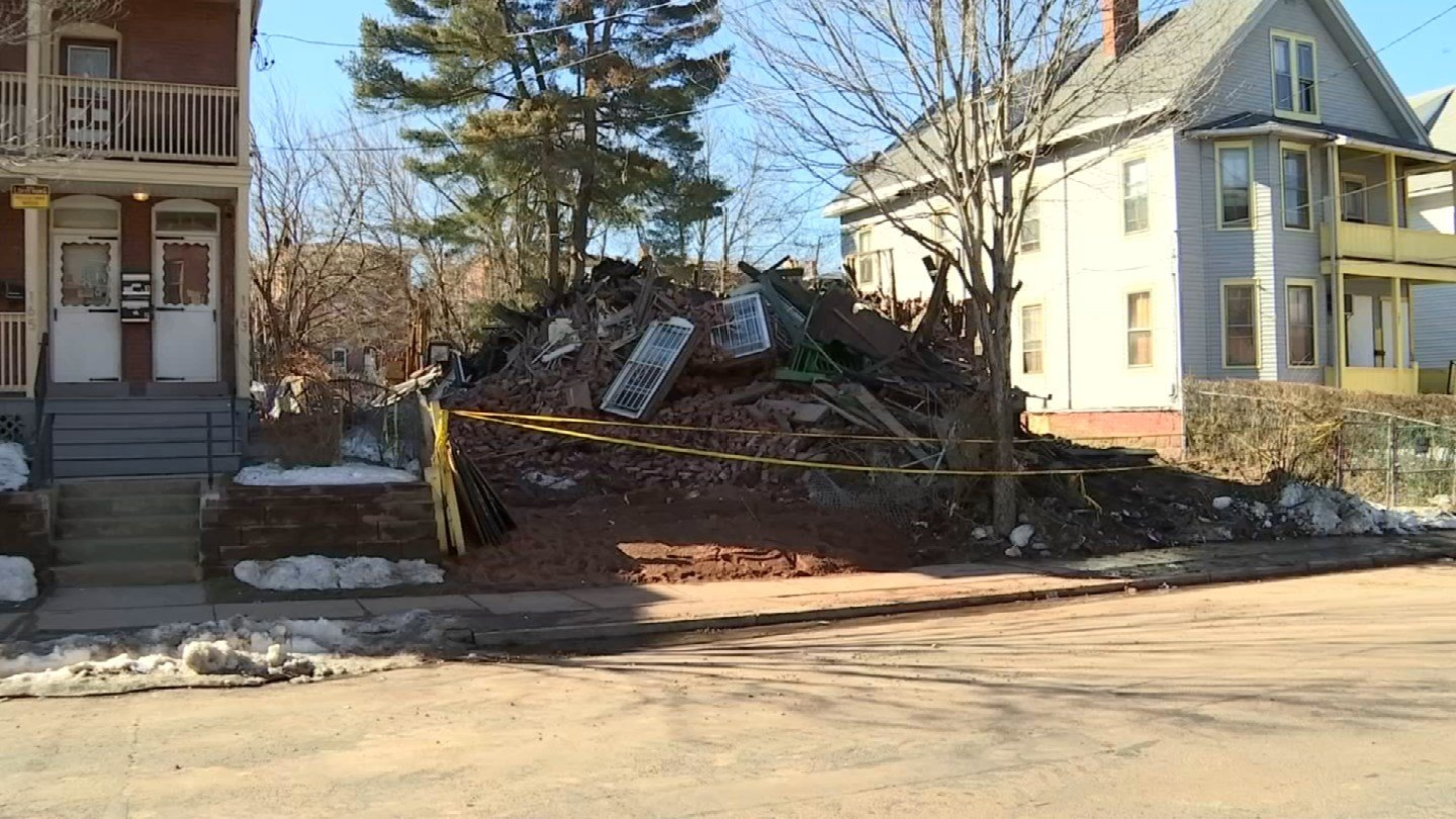 An abandoned building on Babcock Street has been demolished (WFSB)