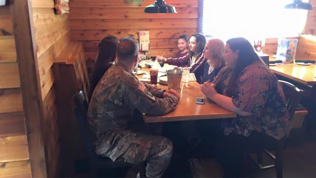 A soldier surprises his young cousins and sees them for the first time in a year, after being deployed to Iraq. (WFSB)