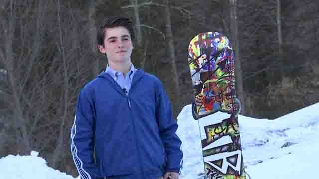 Joey Okesson is one of the best snowboarders in the world (WFSB)