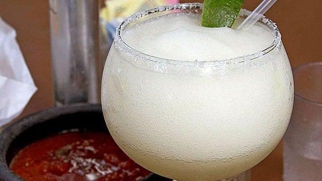A blended margarita. (Wikimedia)