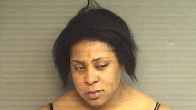 Celina Kelly was found to be naked while destroying items inside a Stamford church, police said. (Stamford police photo)