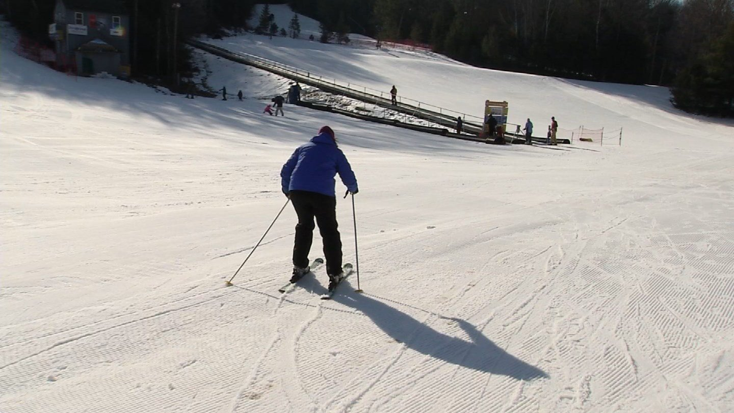 The drought and warm temps have made it difficult for ski areas, but Ski Sundown in New Hartford said it is up for the challenge. (WFSB photo)