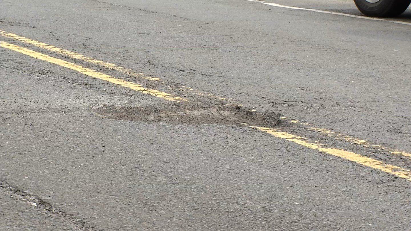 Potholes are being found all over the state as temperatures fluctuate (WFSB)
